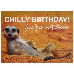 Postkarte Chilly Birthday - Multicolor, Papier (14,8/10,5cm)