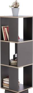 Regal Netto - siva/hrast, Moderno, leseni material (34/108/34cm) - Mömax modern living