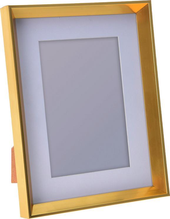 Bilderrahmen Celine Goldfarben - Goldfarben, Basics, Kunststoff (16,6/21,4/2,6cm)