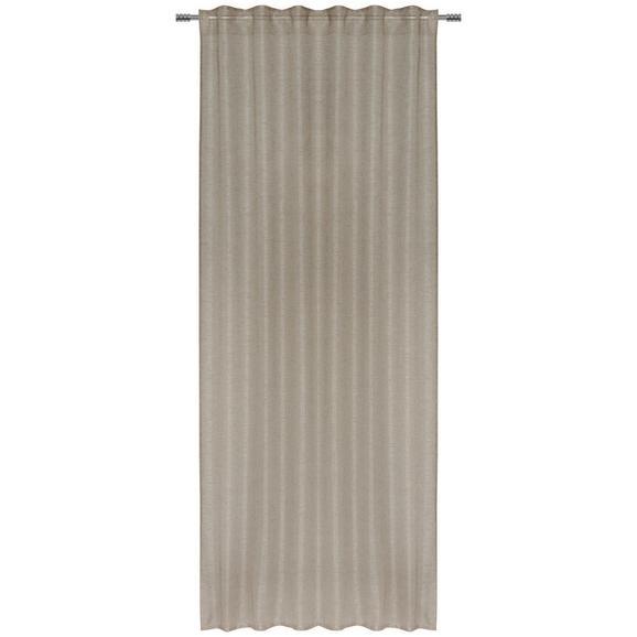 Končana Zavesa Elena - sivo rjava, tekstil (140/255cm) - Mömax modern living