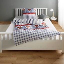 Bettwäsche Heidi Baumwollsatin 135x200/80x80cm - Multicolor, KONVENTIONELL, Textil (135/200cm) - Premium Living