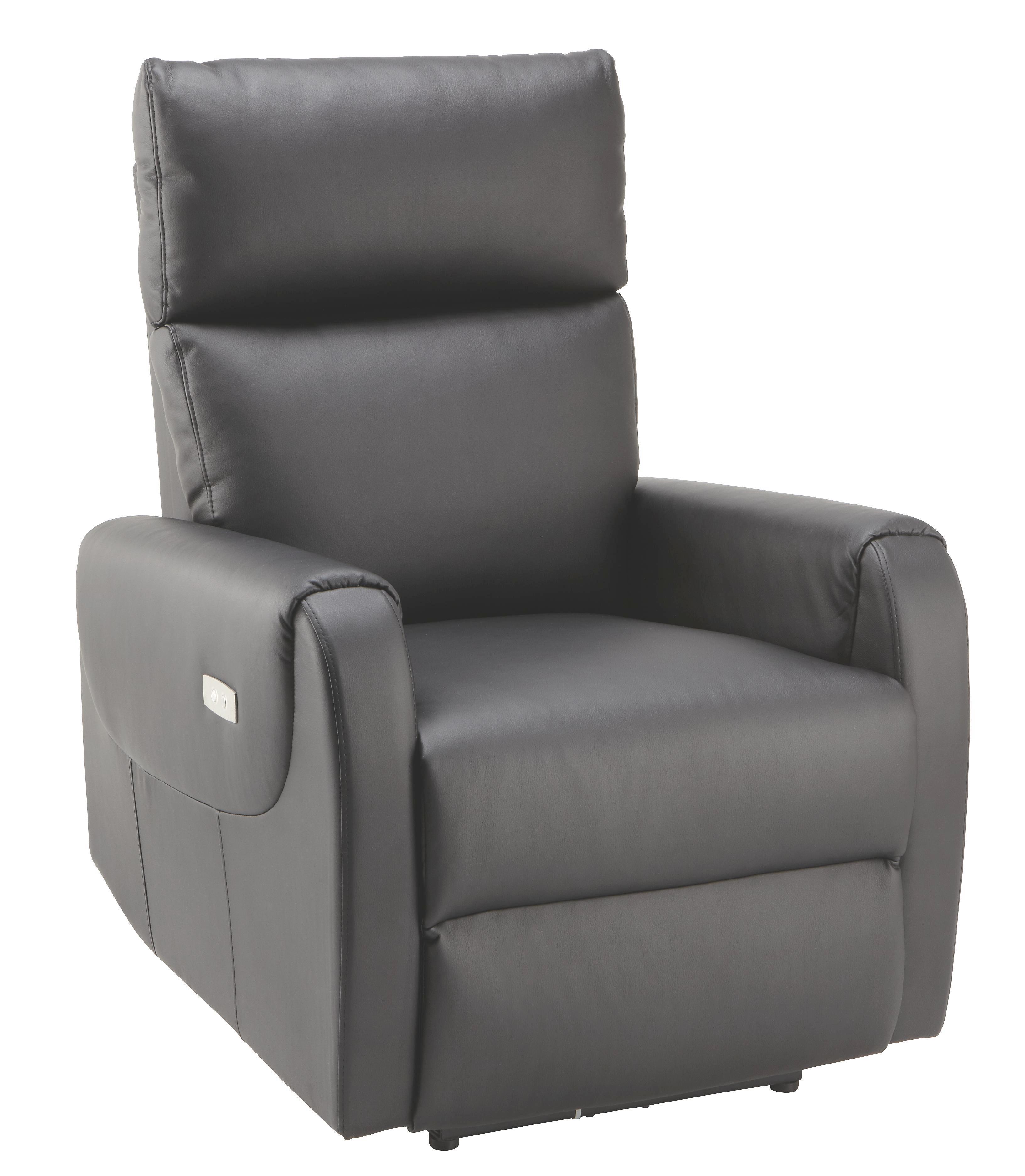 Relax Fotel Ancona - fekete, modern, textil/fa (76,5/100-83/85-154,5cm) - MÖMAX modern living
