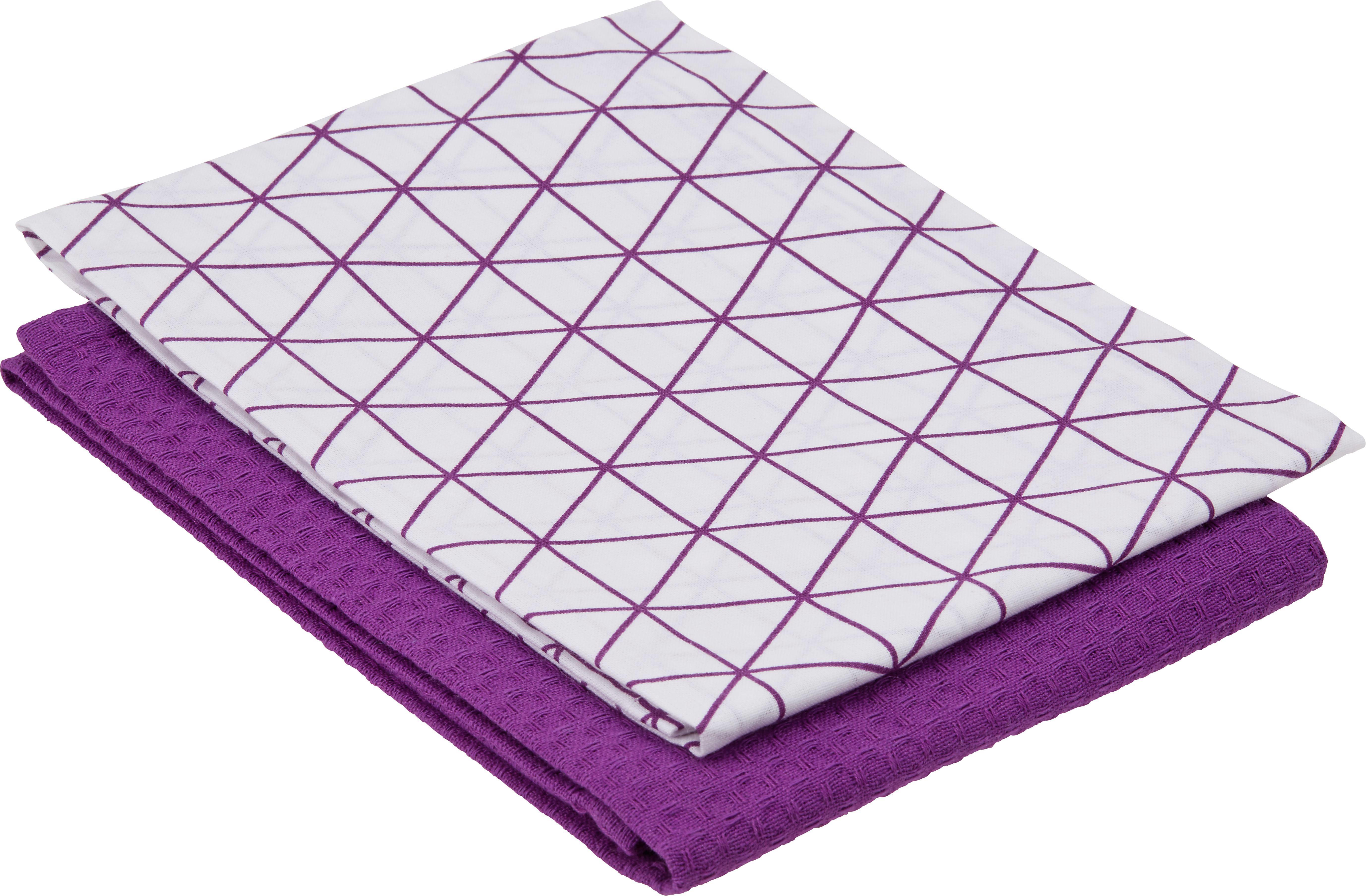 Geschirrtuch Kathi ca. 50x70cm - Lila, Textil (50/70cm) - MÖMAX modern living