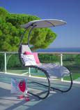 Vrtni Počivalnik Palma - siva/antracit, Moderno, kovina/umetna masa (80/178/193cm) - Mömax modern living