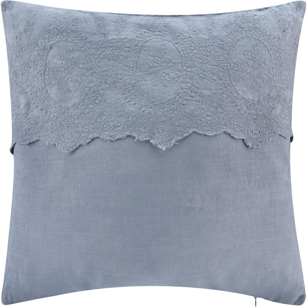 Kissen Pia ca.50x50cm in Blau-grau