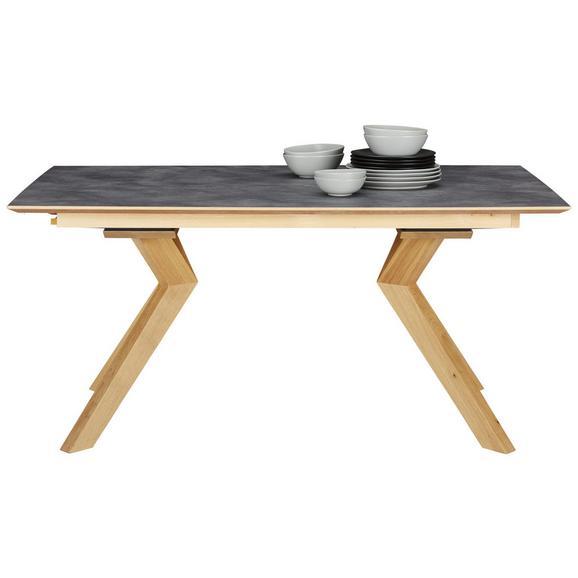 Esstisch in Eichefarben - Schieferfarben/Eichefarben, MODERN, Holz/Kunststoff (160/76/90cm) - Premium Living