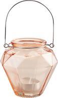 Laterne Georgina aus Farbglas - Türkis/Gelb, MODERN, Glas/Metall (10,5/9,7cm) - Mömax modern living