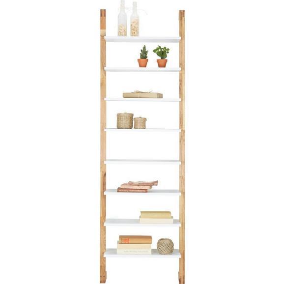 Regal aus Pappel Teilmassiv - Walnussfarben/Weiß, MODERN, Holz/Holzwerkstoff (55/180/25cm) - Zandiara