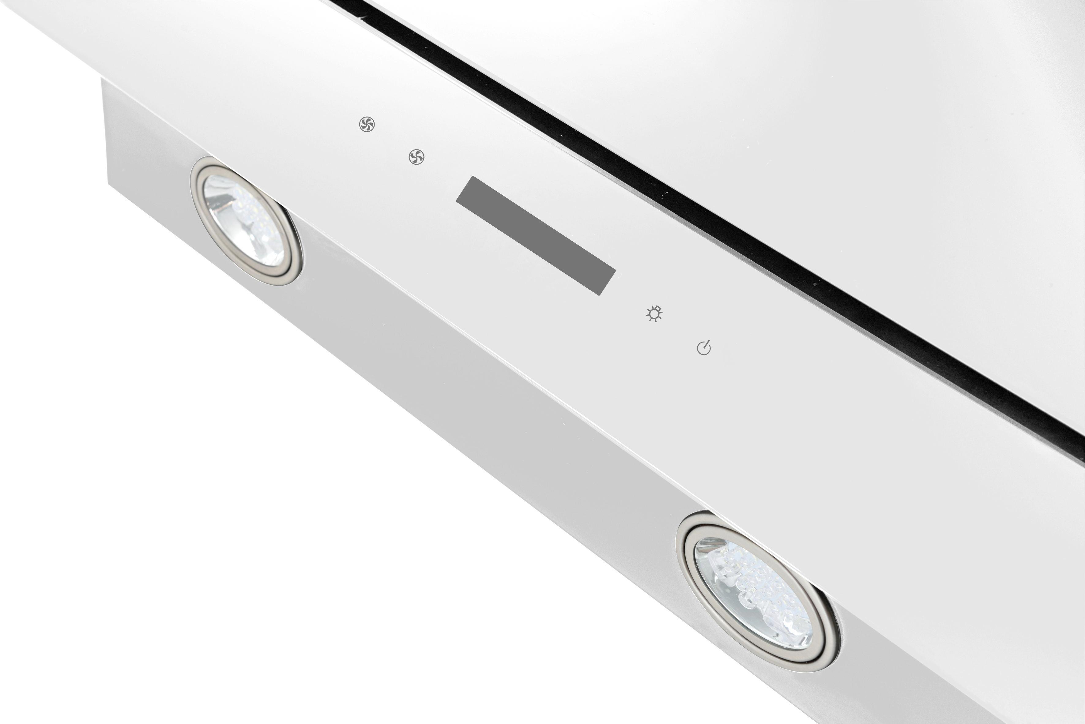 Dunstabzugshaube Ch77060w - Weiß, MODERN, Glas/Metall (60/78-108/31,3cm)