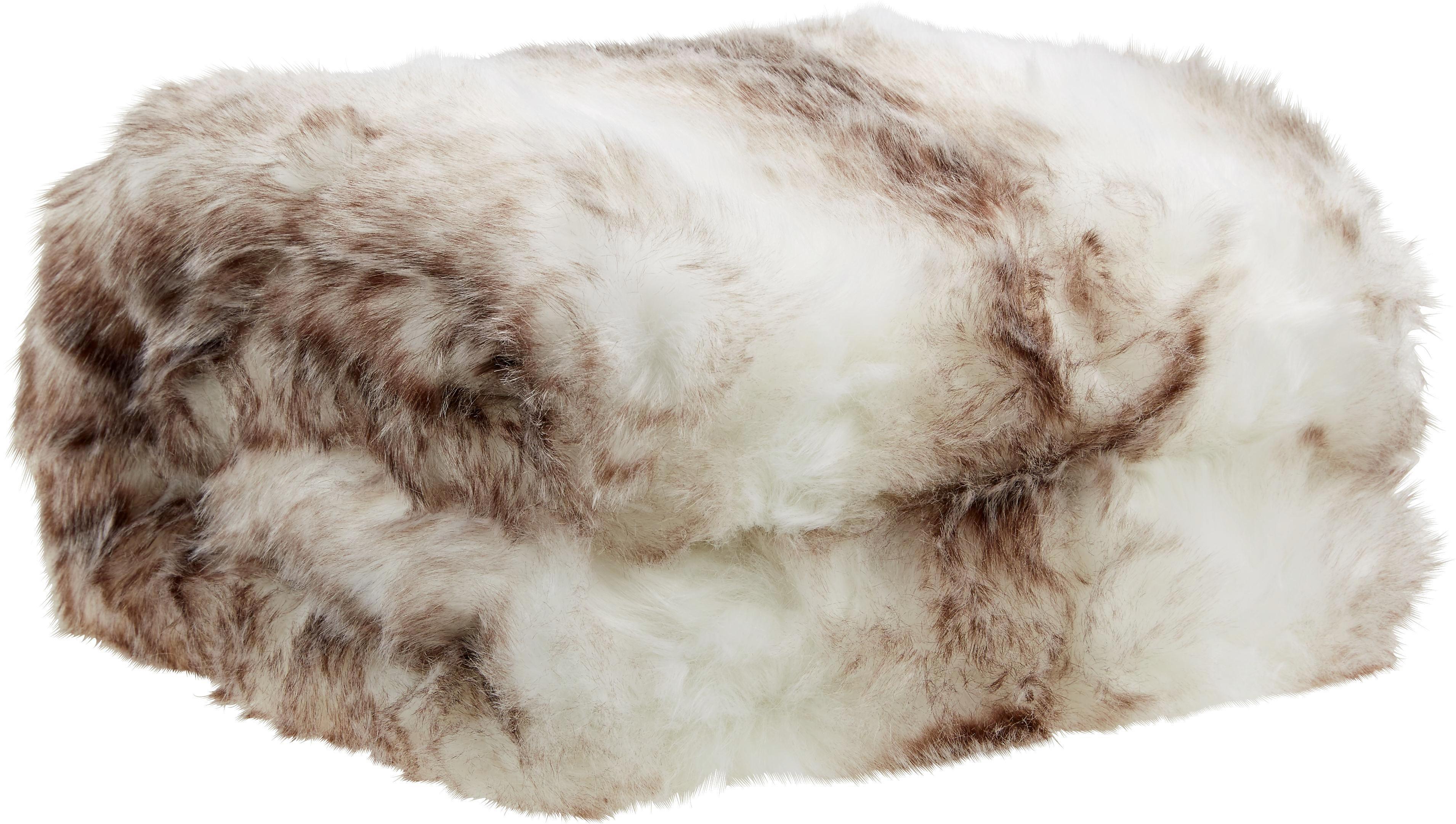 Kuscheldecke Hazel in Weiß/Braun - Braun/Weiß, Textil (130/180cm) - INSIDO