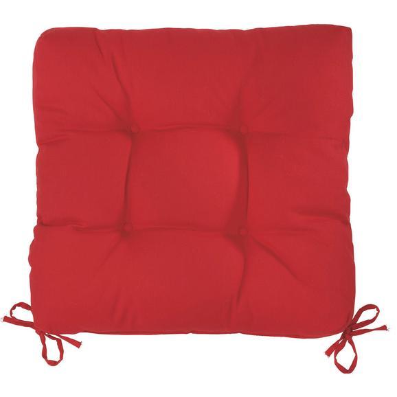 Sitzkissen Elli in Rot, ca. 40x7x40cm - Rot, Textil (40/40/7cm) - Based
