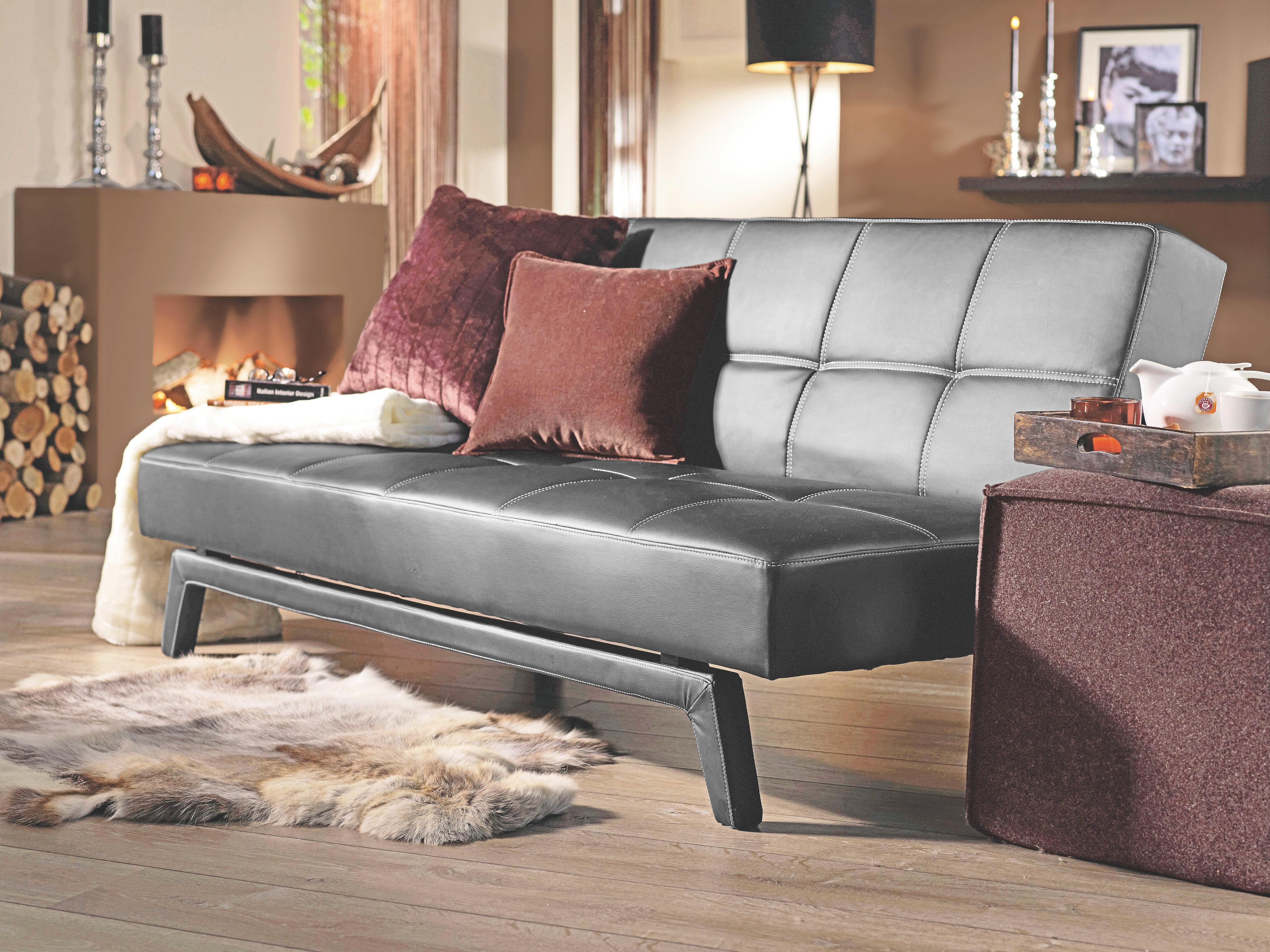 Sofa in Schwarz - Schwarz/Weiß, LIFESTYLE, Holz/Kunststoff (180/79/92cm) - MÖMAX modern living