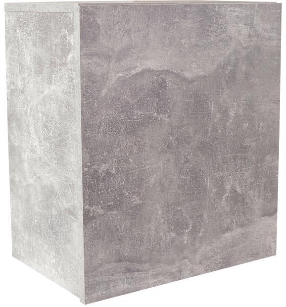 Falipolc Geno Ger01 - Szürke, modern, Faalapú anyag (50/51/28cm)