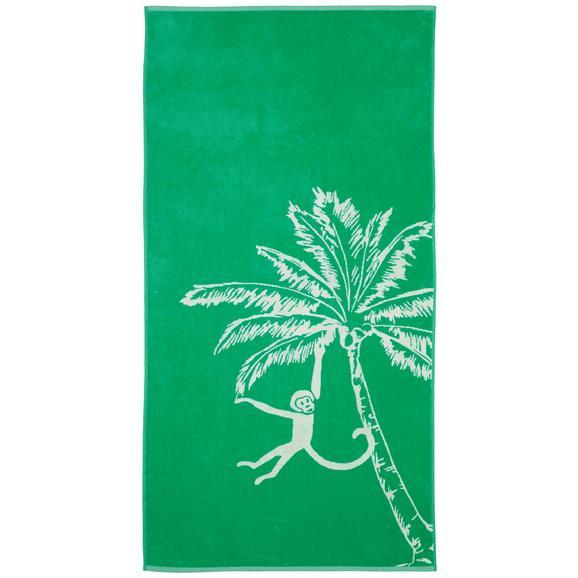 Strandtuch Diamond Palm ca. 80x160cm - Grün, LIFESTYLE, Textil (80/160cm) - Mömax modern living