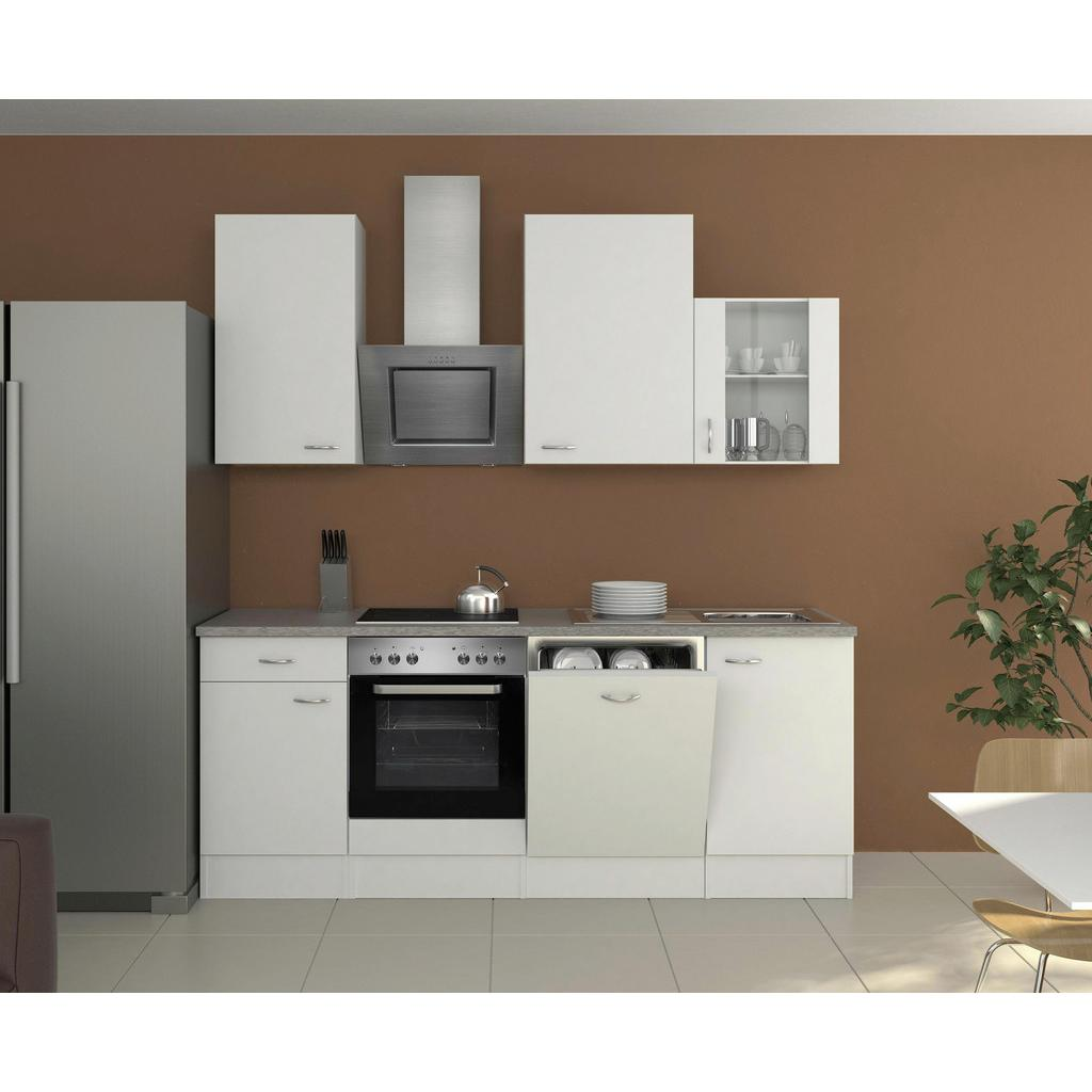 Küchenblock in Grau und Weiss inkl. Geräte und Spüle 'Wito'