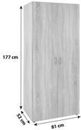 """Dulap De Haine """"based"""" - Culoare stejar, Konventionell, Compozit lemnos (80/177/52cm)"""