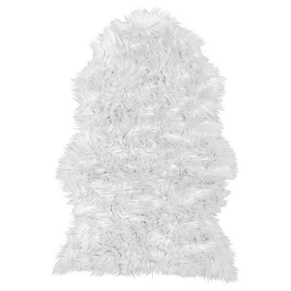 Kunstfell Melissa in Weiß ca.60x90cm - Weiß, ROMANTIK / LANDHAUS, Kunststoff (60/90cm) - Based