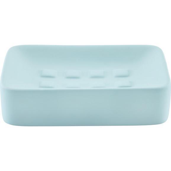 Seifenschale Carina Blau - Blau, Keramik (8,3/12,5cm) - Mömax modern living