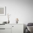 Veioză Irma - gri, Konventionell, sticlă/textil (18/25cm) - Modern Living