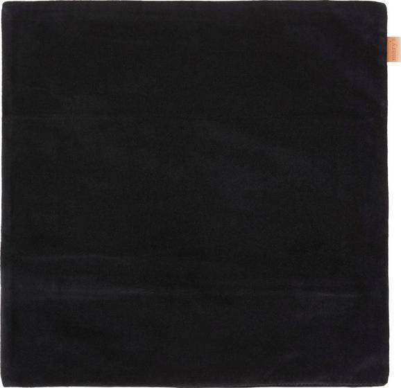Kissenhülle Jenni Velvet, ca. 45x45cm - Schwarz, MODERN, Textil (45/45cm)