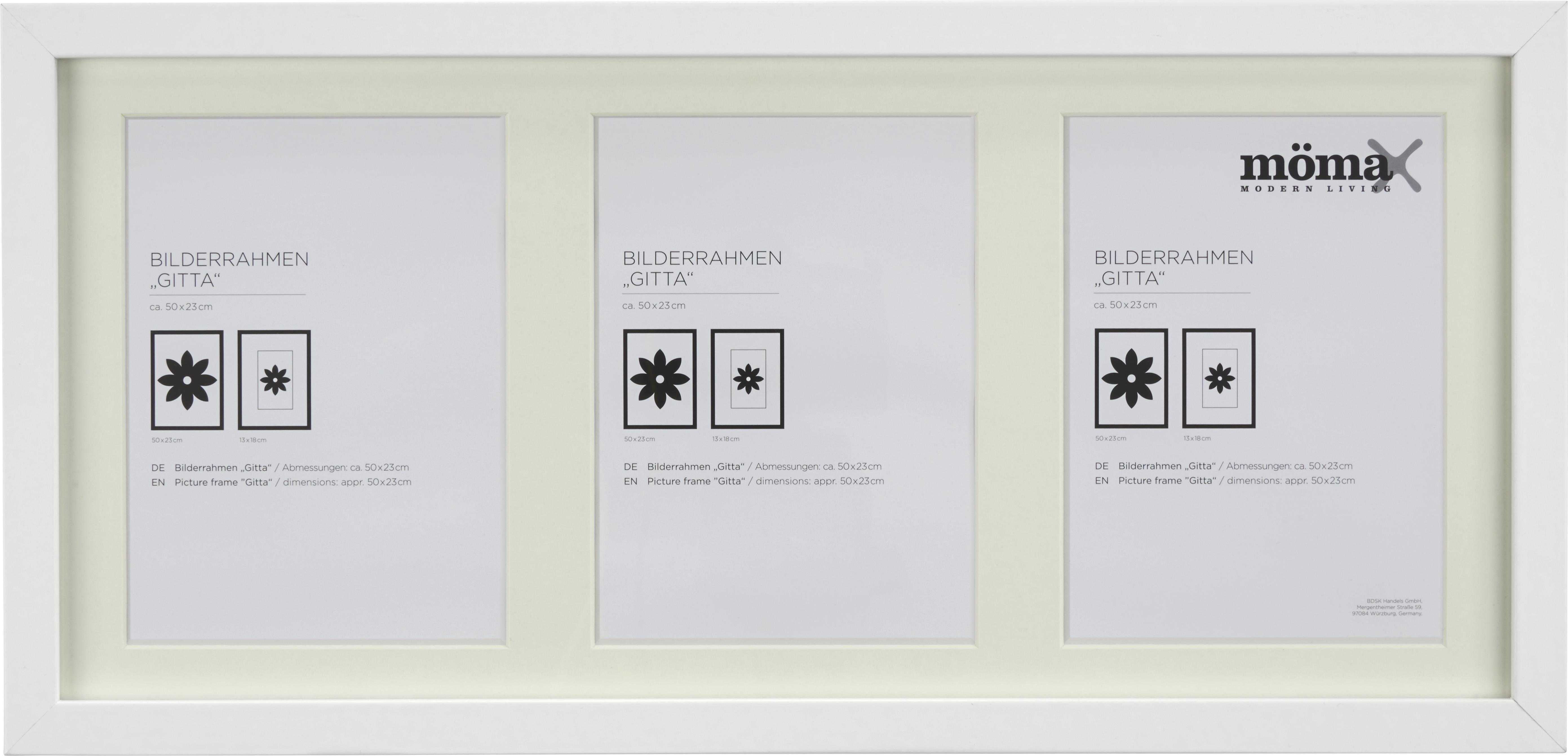 Bilderrahmen Gitta, ca. 23x50cm in Weiß online kaufen ➤ mömax