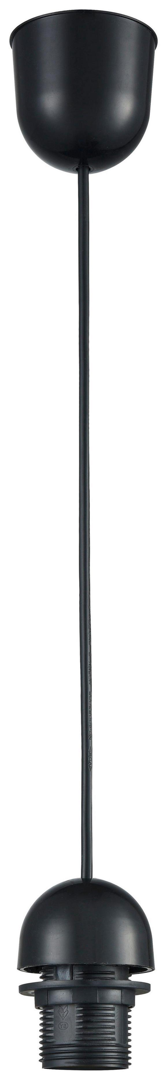 Schnurpendel Anita, max. 60 Watt - Schwarz, Kunststoff (150cm) - Mömax modern living