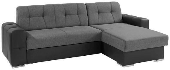 Sedežna Garnitura Fulton - temno siva/črna, Moderno, umetna masa (260/160cm) - Mömax modern living