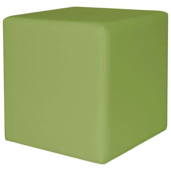 Taburet Colorfull Cube - verde, Modern, textil (40/40/42cm) - Modern Living