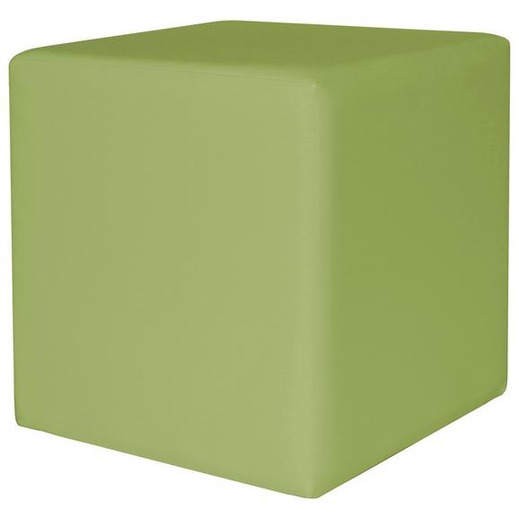 Taburet Colorfull Cube - verde, Modern, textil (40/40/42cm)