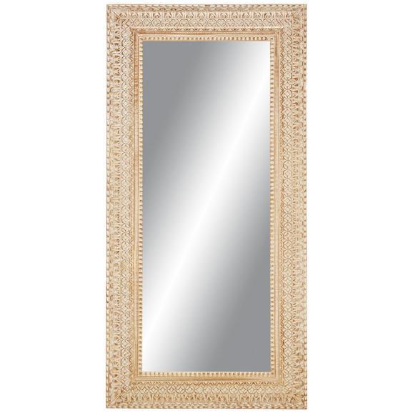 Wandspiegel ca. 90x180x3,5cm - Hellrosa/Weiß, LIFESTYLE, Glas/Holz (90/180cm) - Premium Living