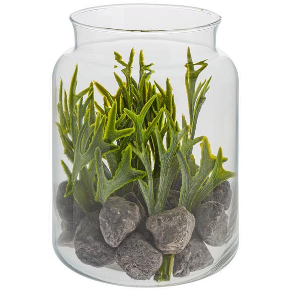 Plantă Artificială Julian - maro/verde, plastic/sticlă (12,5/16cm)
