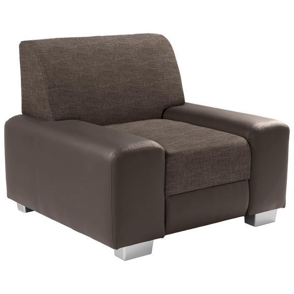 Fotelja Miami - boje blata/svijetlo smeđa, Modern, drvo/metal (104/81/90cm) - Modern Living