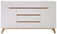 Sideboard in Weiß/Eichefarben - Eichefarben/Weiß, MODERN, Holz/Holzwerkstoff (169/101/41cm) - Premium Living