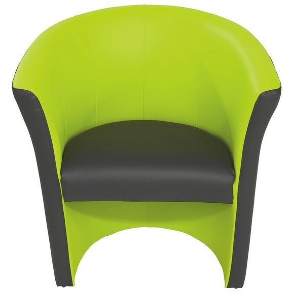 Fotelj Rainbow - črna/zelena, Moderno, umetna masa (69/76/59cm) - Mömax modern living