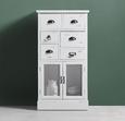 Highboard Lewis Vintage - Weiß, MODERN, Glas/Holz (60/33/112cm) - Modern Living