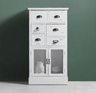 Kommode Lewis Vintage - Weiß, MODERN, Glas/Holz (60/33/112cm) - Modern Living