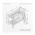 ETAGENBETT 479 - Weiß, Design, Holz (90/200cm)