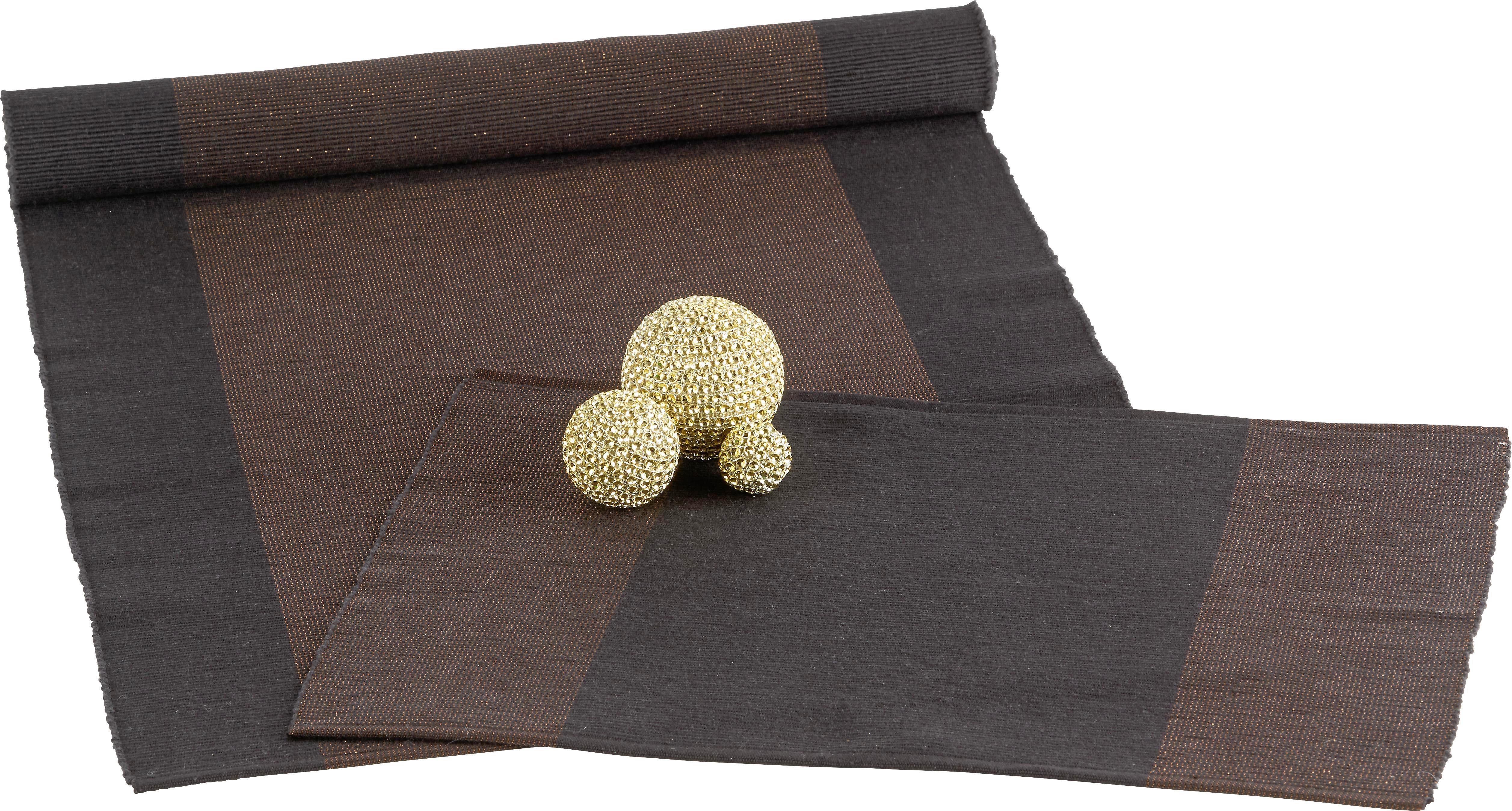 Asztali Futó Brando - fekete/réz színek, Lifestyle, textil (45/150cm) - MÖMAX modern living