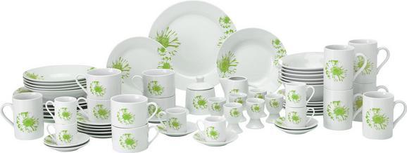 Kombinirani Servis Gabi - bela/zelena, keramika - MÖMAX modern living