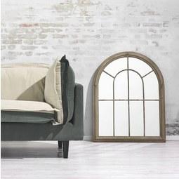 Spiegel Bianca ca. 69x88 cm - Sandfarben, KONVENTIONELL, Glas/Metall (69/88/4cm) - Premium Living