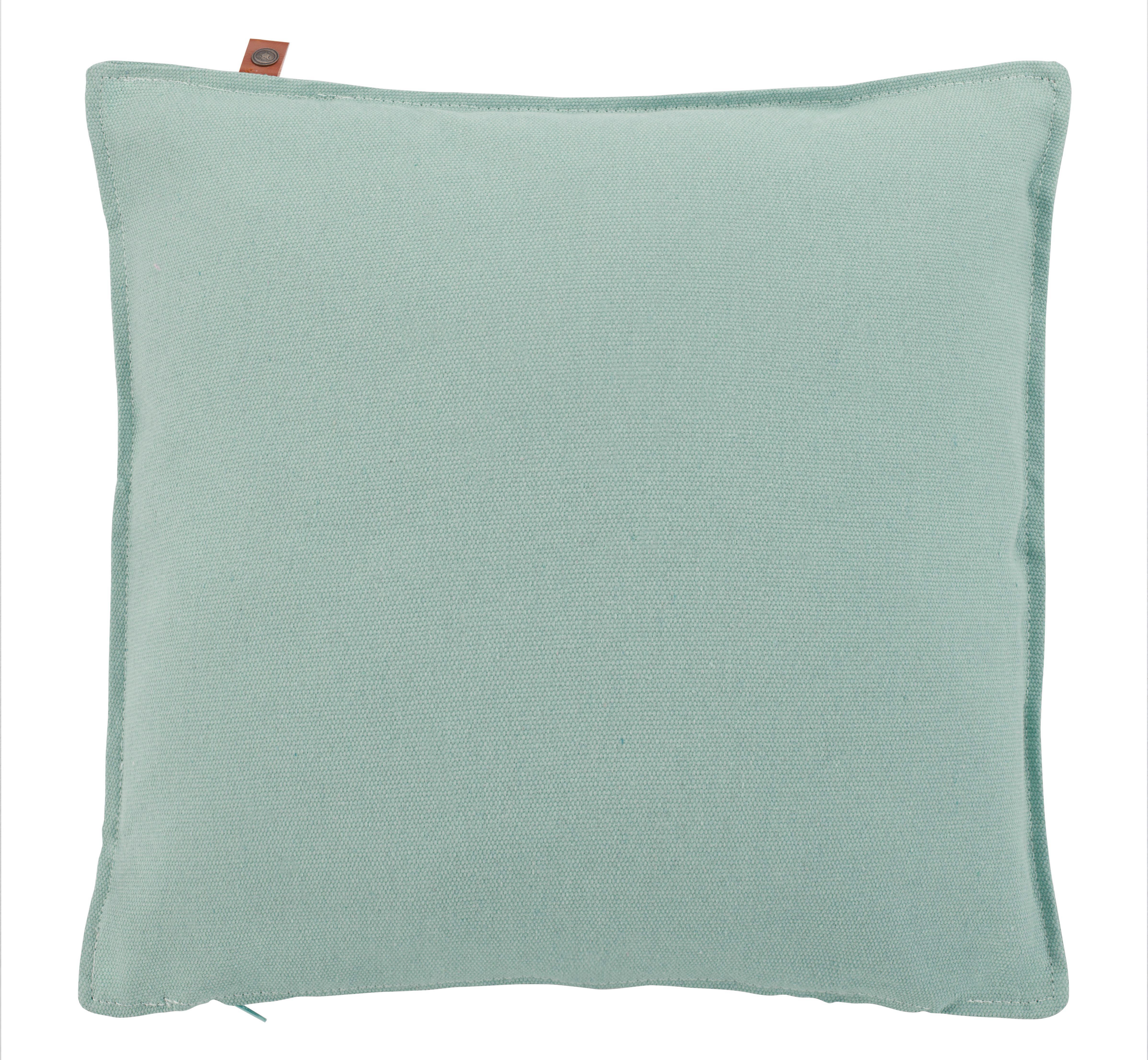 Zierkissen Jenna 45x45cm - Mintgrün, MODERN, Textil (45/45cm)