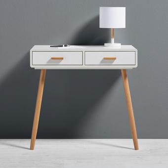 Konsolentisch Claire 80x39cm - Braun/Weiß, MODERN, Holz (80/75/39cm) - Mömax modern living