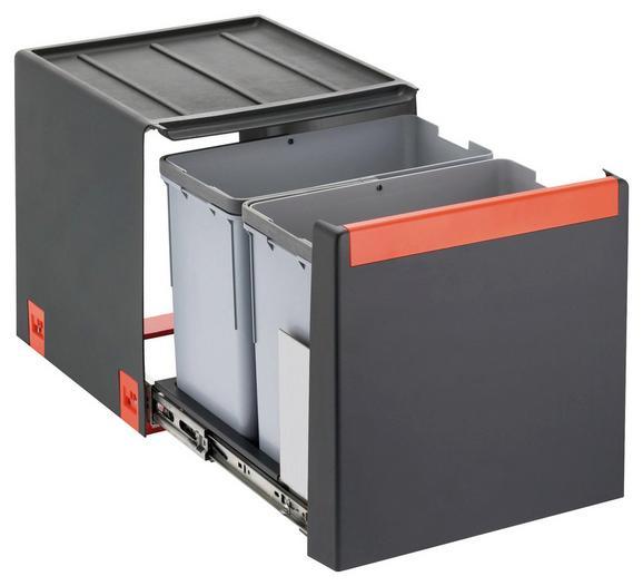 Einbauabfallsammler 1340039330 - Grau, Kunststoff (33,5/34,8/40,7cm) - Franke