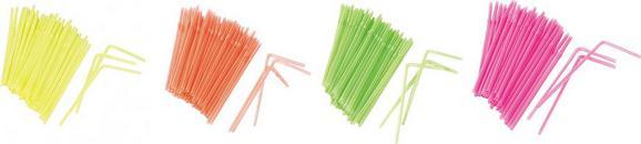 Trinkhalm Funky in verschiedenen Farben - Pink/Gelb, KONVENTIONELL, Kunststoff (21cm) - MÖMAX modern living