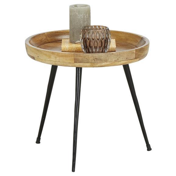 Beistelltisch in Naturfarben - Naturfarben, MODERN, Holz/Metall (40/38/40cm) - Modern Living