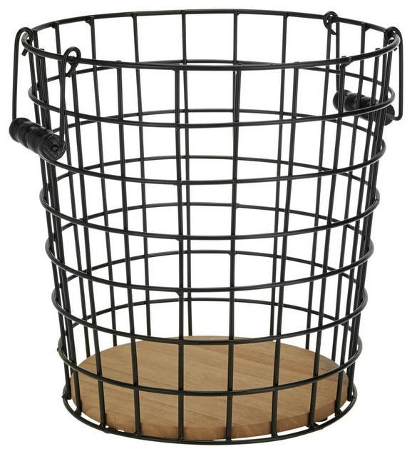 Papierkorb Cage Braun/Schwarz - Schwarz, MODERN, Holz/Metall (30/32/30cm) - Modern Living