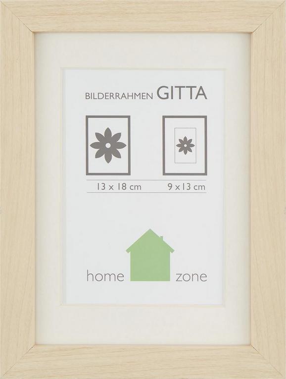 Bilderrahmen Gitta, ca. 13x18cm - Eichefarben, Glas/Holz (13/18cm) - MÖMAX modern living