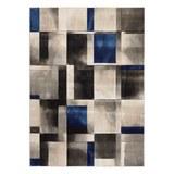 Webteppich Caroline ca. 160x230cm - Blau/Grau, MODERN, Textil (160/230cm) - Mömax modern living