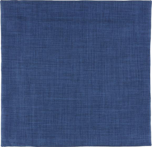 Párnahuzat Lenhatású - Sötétkék, Textil (60/60cm) - Mömax modern living
