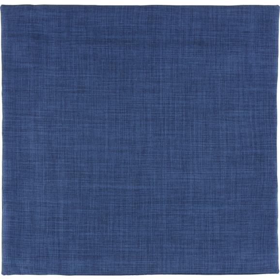 Prevleka Blazine Leinenoptik - temno modra, tekstil (60/60cm) - Mömax modern living